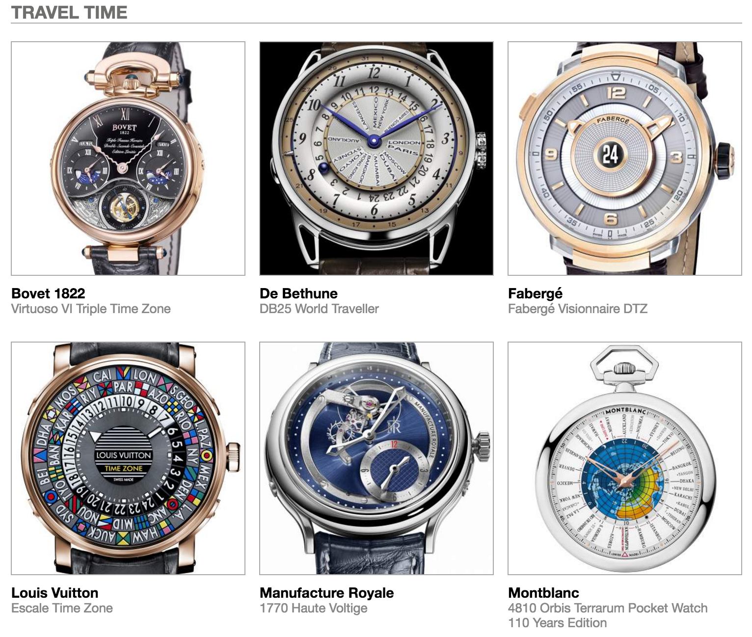 Complete List Of All Pre-Selected Watches In The 2016 ...