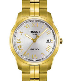 Tissot PR 100 Gold Tone Strap Men's Watch