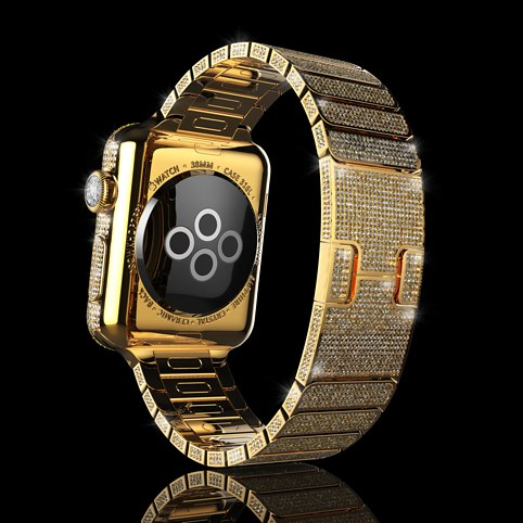 World's Most Expensive Apple Attention: plus 18K gold with diamonds