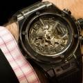 hublot big bang unico all black sapphire wristwatch