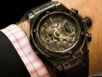 hublot big bang unico all black sapphire wristwatch