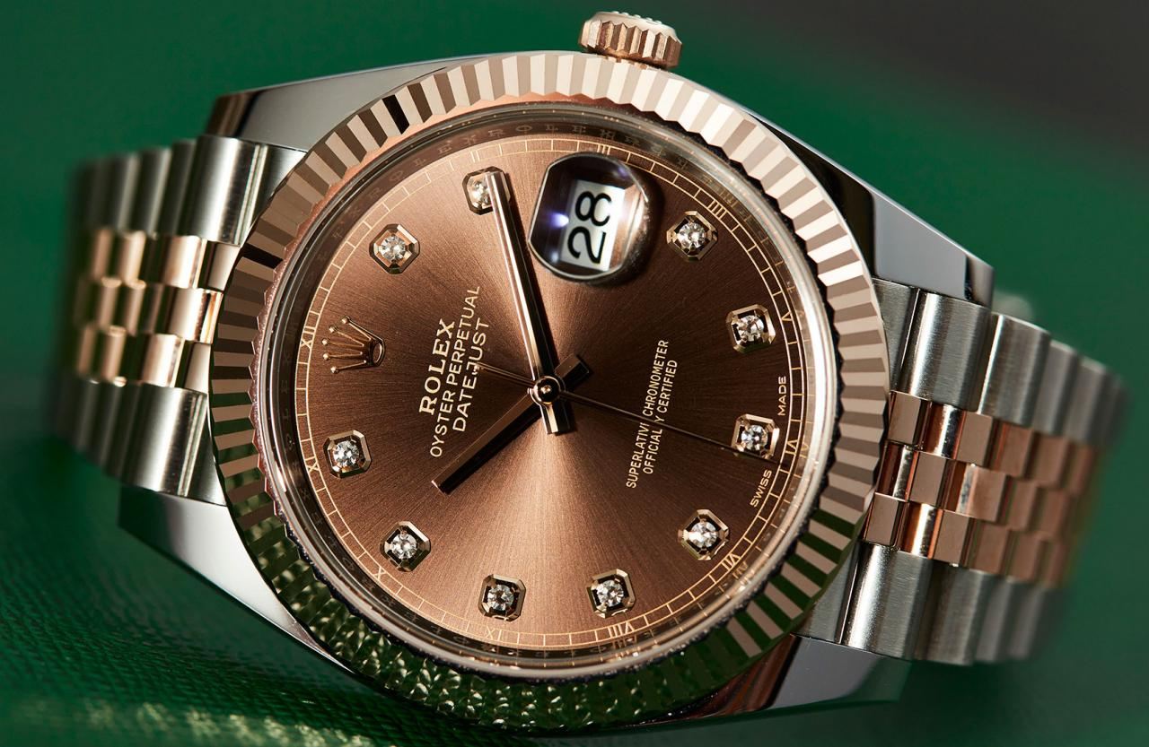 The Oyster Perpetual Datejust 41steel strip watch