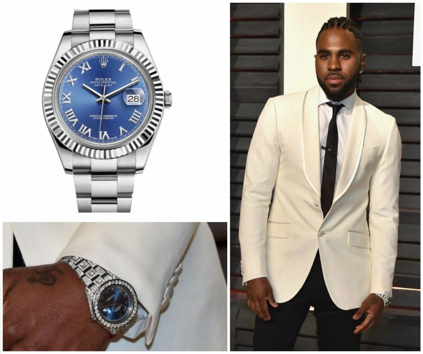 Jason Derulo's iced-out Rolex Datejust